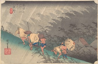 Sudden Shower in Shono, ca. 1833-34., ca. 1833-34. Creator: Ando Hiroshige.