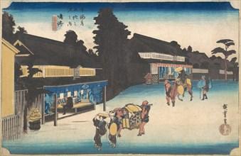 Narumi, Meibutsu Arimatsu Shibori, ca. 1832-1833. Creator: Ando Hiroshige.