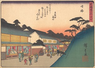 Narumi, from the series The Fifty-three Stations of the Tokaido Road, early ..., early 20th century. Creator: Ando Hiroshige.