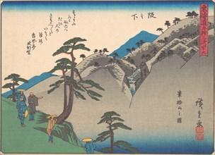 Sakanoshita, from the series The Fifty-three Stations of the Tokaido Road, e..., early 20th century. Creator: Ando Hiroshige.