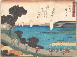 Kanagawa, ca. 1838., ca. 1838. Creator: Ando Hiroshige.