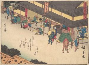 Kusatsu, ca. 1838., ca. 1838. Creator: Ando Hiroshige.