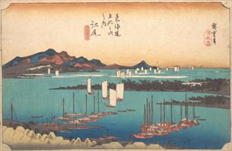 Panorama of Miwo Pine Wood from Ejiri, 1834., 1834. Creator: Ando Hiroshige.