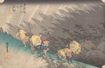 Shower at Shono, 1834., 1834. Creator: Ando Hiroshige.
