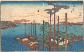 Tsukudajima Hatsu Hototogisu, probably 1830., probably 1830. Creator: Ando Hiroshige.