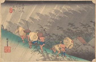 White Rain at Shono, 1797-1861., 1797-1861. Creator: Ando Hiroshige.