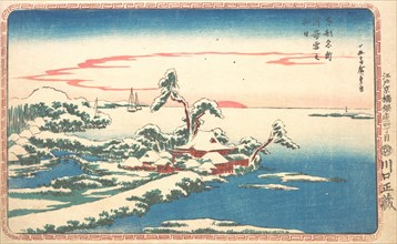 New Year's Sunrise after Snow at Susaki, ca. 1831., ca. 1831. Creator: Ando Hiroshige.