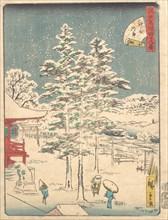Kanda Temple Snow, 1861., 1861. Creator: Ando Hiroshige.