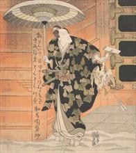 "Ichikawa Danjuro VII (1791-1859) in the Role of Konoshita Tokichi from the Scene ""Mountain..., 1819. Creator: Utagawa Kunisada."