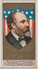 James A. Garfield, from the series Great Americans (N76) for Duke brand cigarettes, 1888., 1888. Creator: Unknown.