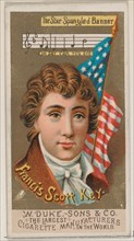 Francis Scott Key, from the series Great Americans (N76) for Duke brand cigarettes, 1888., 1888. Creator: Unknown.