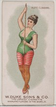 Rope Climbing, from the Gymnastic Exercises series (N77) for Duke brand cigarettes, 1887., 1887. Creator: Unknown.