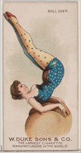 Roll Over, from the Gymnastic Exercises series (N77) for Duke brand cigarettes, 1887., 1887. Creator: Unknown.