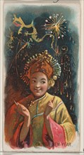 Chinese New Year, from the Holidays series (N80) for Duke brand cigarettes, 1890., 1890. Creator: George S. Harris & Sons.