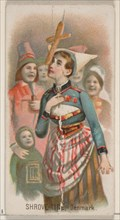 Shrove-Tide, Denmark, from the Holidays series (N80) for Duke brand cigarettes, 1890., 1890. Creator: George S. Harris & Sons.