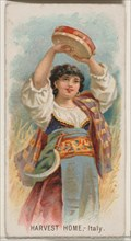 Harvest Home, Italy, from the Holidays series (N80) for Duke brand cigarettes, 1890., 1890. Creator: George S. Harris & Sons.