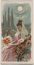 The Flower Fair, Spain, from the Holidays series (N80) for Duke brand cigarettes, 1890., 1890. Creator: George S. Harris & Sons.
