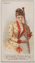 Bassoon, from the Musical Instruments series (N82) for Duke brand cigarettes, 1888., 1888. Creator: Schumacher & Ettlinger.