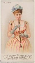 Clarinet, from the Musical Instruments series (N82) for Duke brand cigarettes, 1888., 1888. Creator: Schumacher & Ettlinger.
