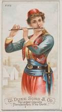 Fife, from the Musical Instruments series (N82) for Duke brand cigarettes, 1888., 1888. Creator: Schumacher & Ettlinger.