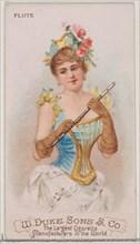 Flute, from the Musical Instruments series (N82) for Duke brand cigarettes, 1888., 1888. Creator: Schumacher & Ettlinger.