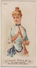 Oboe, from the Musical Instruments series (N82) for Duke brand cigarettes, 1888., 1888. Creator: Schumacher & Ettlinger.