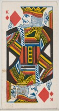 King of Diamonds (red), from the Playing Cards series (N84) for Duke brand cigarettes, 1888., 1888. Creator: Unknown.