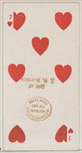 Seven Hearts (red), from the Playing Cards series (N84) for Duke brand cigarettes, 1888., 1888. Creator: Unknown.