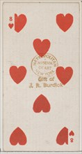 Eight Hearts (red), from the Playing Cards series (N84) for Duke brand cigarettes, 1888., 1888. Creator: Unknown.