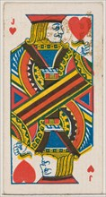 Jack of Hearts (red), from the Playing Cards series (N84) for Duke brand cigarettes, 1888., 1888. Creator: Unknown.