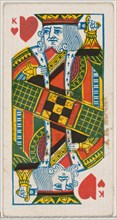 King of Hearts (red), from the Playing Cards series (N84) for Duke brand cigarettes, 1888., 1888. Creator: Unknown.