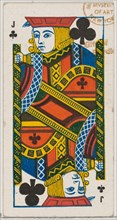 Jack of Clubs (black), from the Playing Cards series (N84) for Duke brand cigarettes, 1888., 1888. Creator: Unknown.