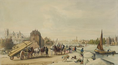 Millbank, Westminster, London, 1840. Creator: William Parrott.