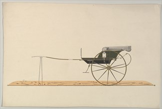 Design for C-Spring Chaise, 1850-74.