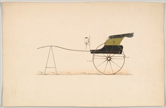 Design for Hooded Chaise, 1850-74.