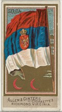Serbia, from Flags of All Nations, Series 2 (N10) for Allen & Ginter Cigarettes Brands, 1890.