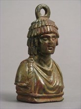 Steelyard Weight with the Bust of a Woman, Byzantine, 4th century. Possibly the Egyptian goddess Isis.