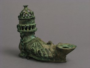Hanging Lamp in the Form of a Sandaled Right Foot, Byzantine, 5th century.