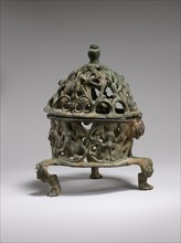 Censer Frame with Inhabited Vine Scroll, Byzantine, 6th century.