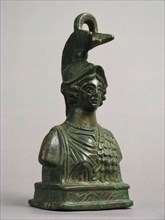 Steelyard Weight with the Bust of Athena, Byzantine, 350-500.