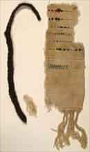 Textile Fragments and braid, Coptic, 4th-7th century.