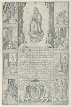 Indulgence for donation of alms towards the building of a Church to the Virgin of Guadalupe (modern facsimile impression), 1608 (facsimile 1930-40).