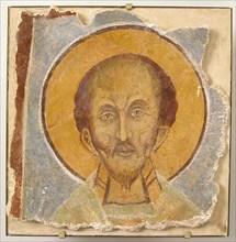 Wall Painting of Male Saint, Byzantine, 12th century, modern restoration. May represent the late fourth-century saint John Chrysostom.