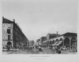 Fulton Street & Market, New York (The Bennett View of Fulton Street), 1834.