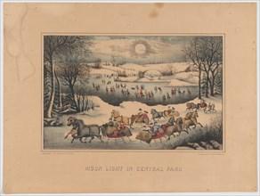 Moon Light in Central Park, ca. 1871-75.