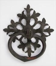 Door handle and plate, German, 1450-1500.