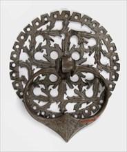 Door handle and plate, German, 15th century.