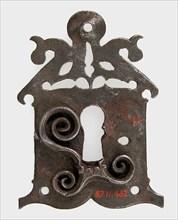 Escutcheon plate, German, 15th-16th century.