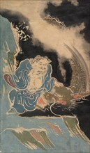 Daoist Immortal with Dragon, probably 19th century.