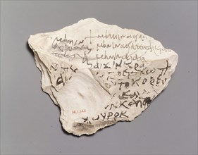 Ostrakon with Lines from Homer?s Iliad, Coptic, 580-640.